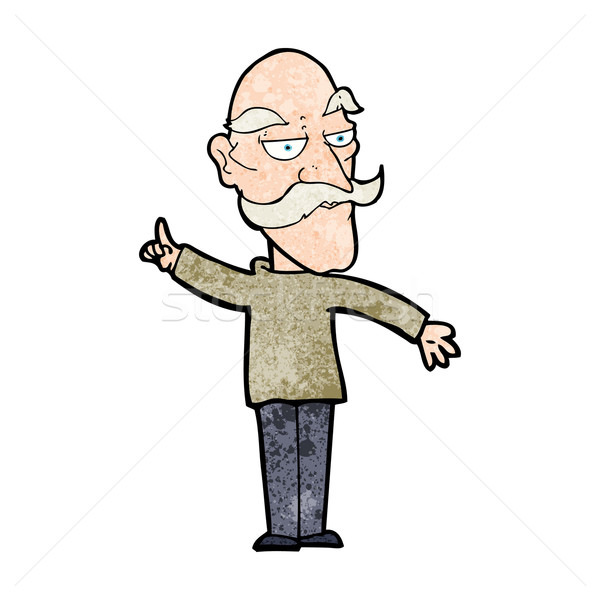 cartoon old man telling story Stock photo © lineartestpilot