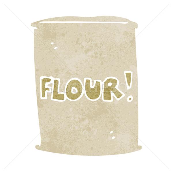 cartoon bag of flour Stock photo © lineartestpilot