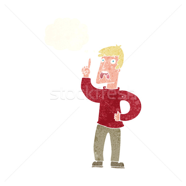 cartoon man with complaint with thought bubble Stock photo © lineartestpilot