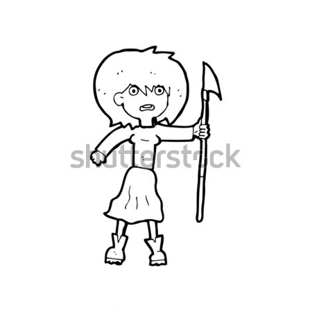 cartoon curious woman with thought bubble Stock photo © lineartestpilot