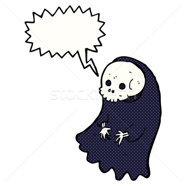 cartoon spooky ghoul with speech bubble Stock photo © lineartestpilot