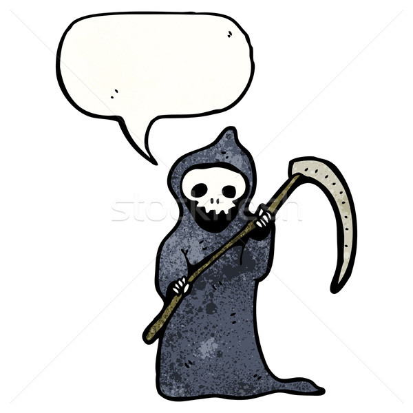 death with speech bubble and scythe  Stock photo © lineartestpilot