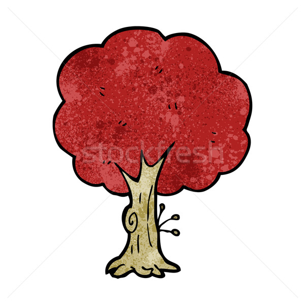 cartoon tree in fall Stock photo © lineartestpilot