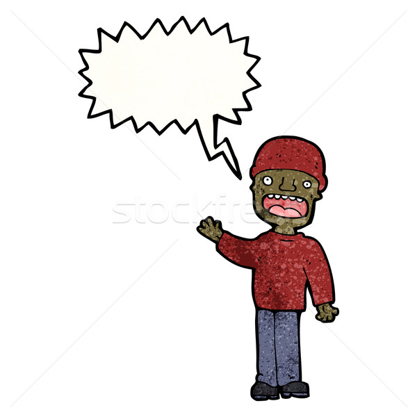 cartoon man arguing Stock photo © lineartestpilot