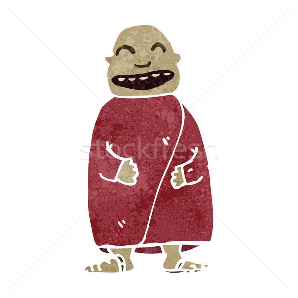 ретро Cartoon счастливым монах текстуры изолированный Сток-фото © lineartestpilot