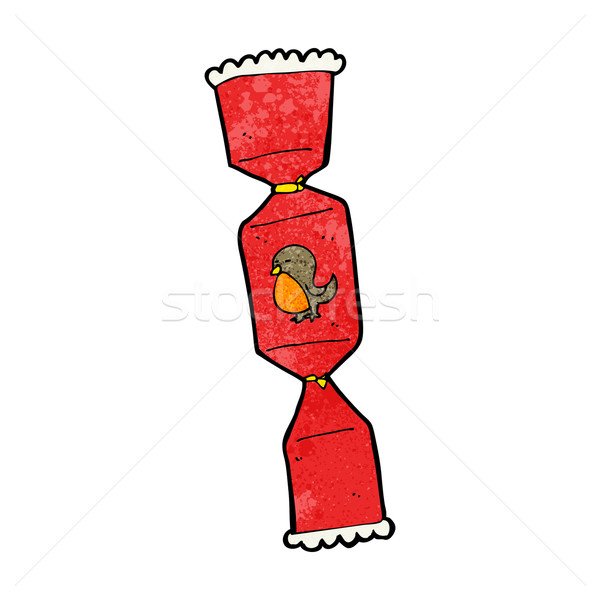 Christmas Cracker Vector.Cartoon Christmas Cracker Vector Illustration