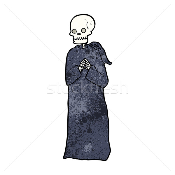 cartoon skeleton in black robe Stock photo © lineartestpilot
