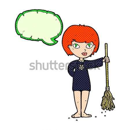 Cartoon mujer espalda mano diseno loco Foto stock © lineartestpilot