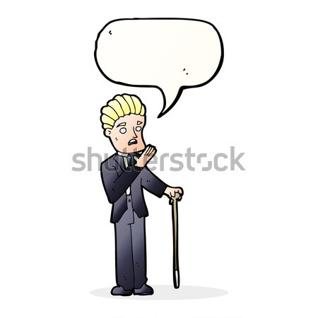 cartoon cool guy snapping fingers Stock photo © lineartestpilot