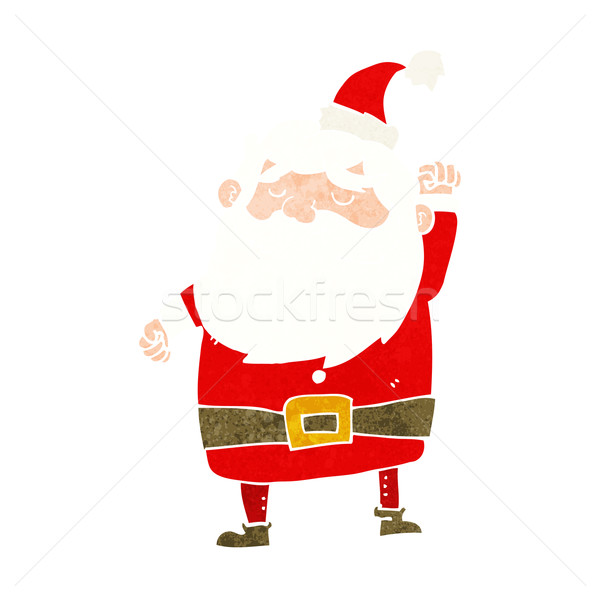 cartoon santa claus punching air Stock photo © lineartestpilot