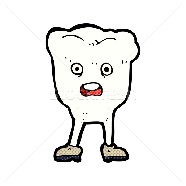 comic cartoon tooth looking afraid Stock photo © lineartestpilot