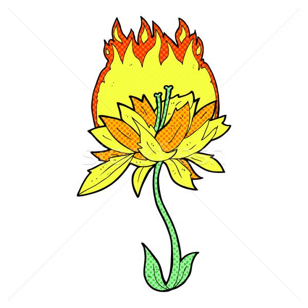 comic cartoon burning flower Stock photo © lineartestpilot