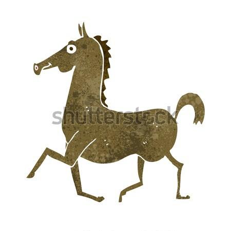 Cartoon paard gedachte bel hand ontwerp kunst Stockfoto © lineartestpilot