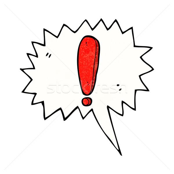 Karikatür ünlem işareti konuşma balonu el dizayn sanat Stok fotoğraf © lineartestpilot