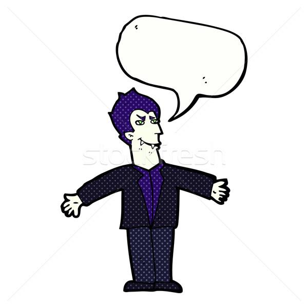 Cartoon vampiro uomo open braccia fumetto Foto d'archivio © lineartestpilot