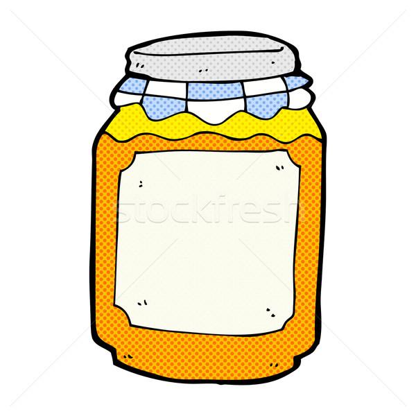 comic cartoon jar of marmalade Stock photo © lineartestpilot