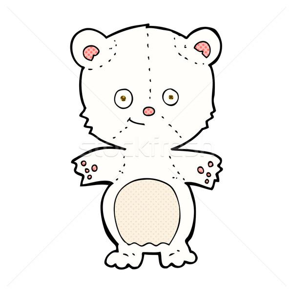 comic cartoon polar bear cub Stock photo © lineartestpilot