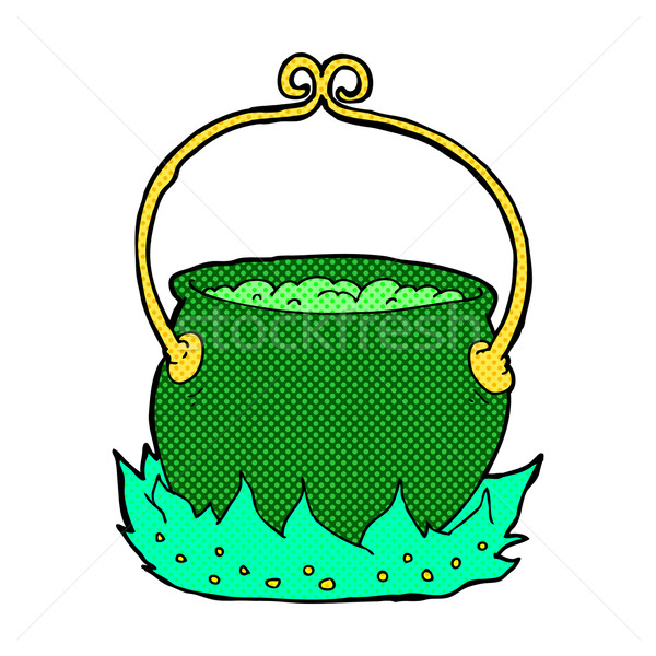 comic cartoon witch's cauldron Stock photo © lineartestpilot