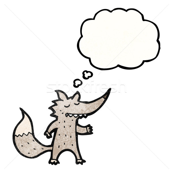 cartoon wolf with idea Stock photo © lineartestpilot
