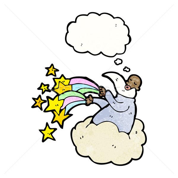 cartoon god on cloud Stock photo © lineartestpilot