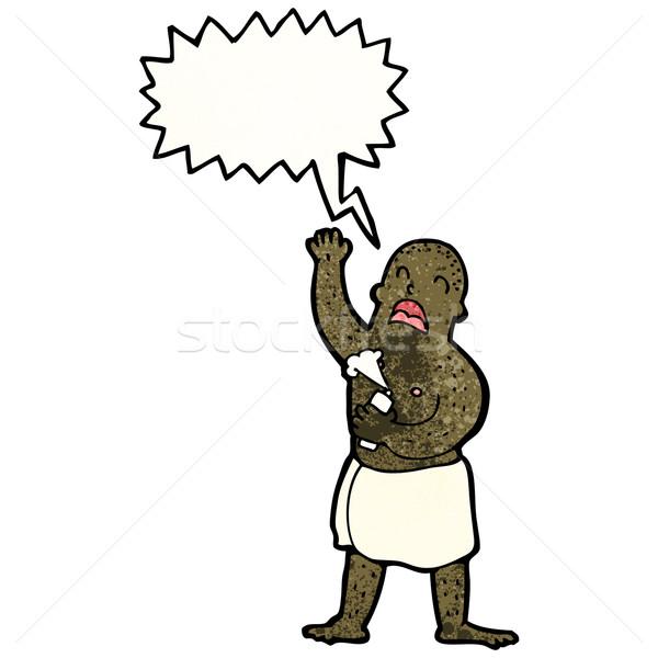 cartoon man in towel singing Stock photo © lineartestpilot