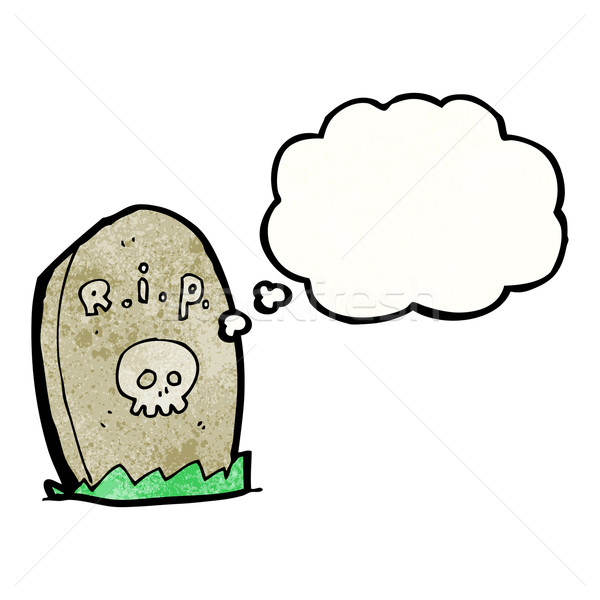 cartoon gravestone Stock photo © lineartestpilot
