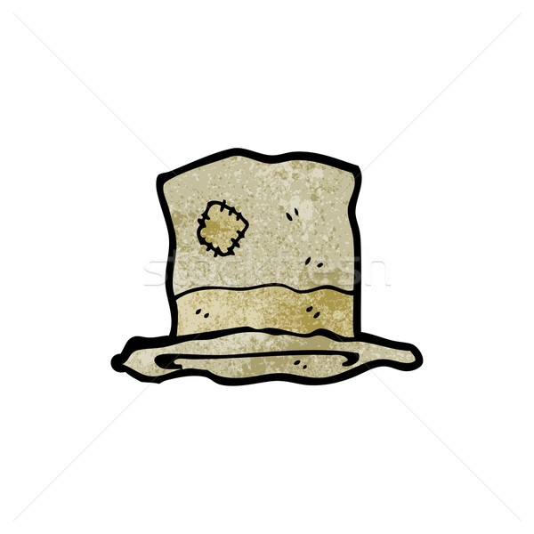 ee84918eaca72 cartoon old battered top hat vector illustration © lineartestpilot ...