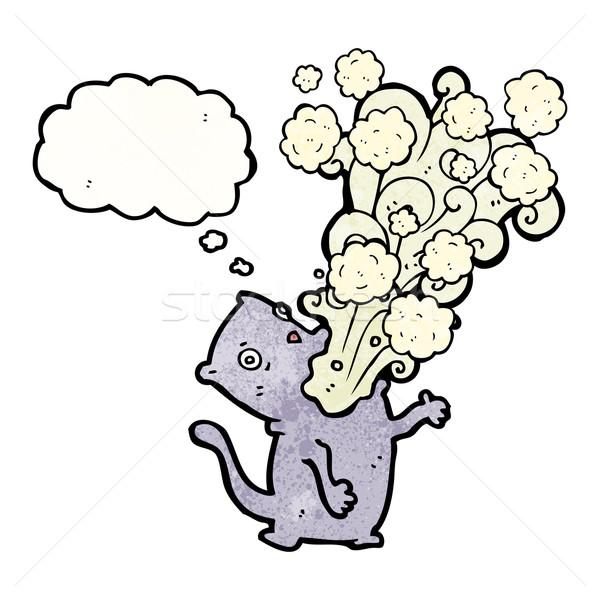 cartoon cat belching Stock photo © lineartestpilot