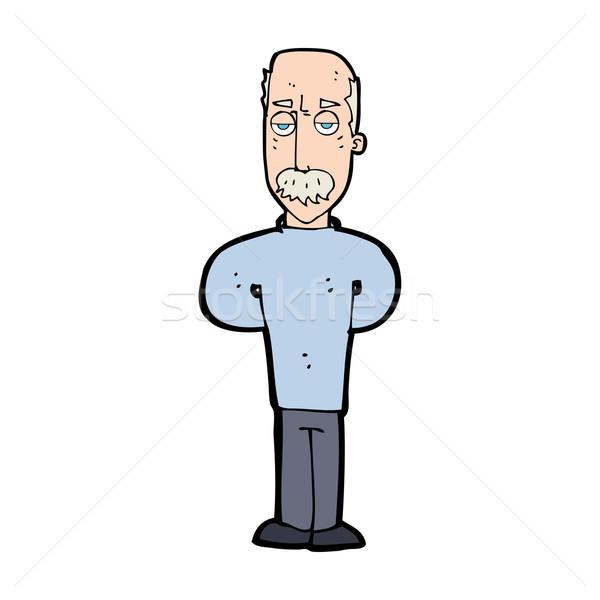 cartoon annoyed balding man Stock photo © lineartestpilot