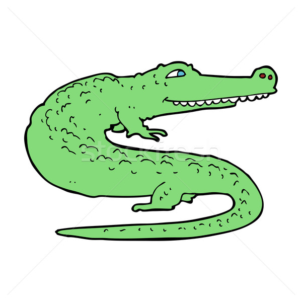 cartoon crocodile Stock photo © lineartestpilot
