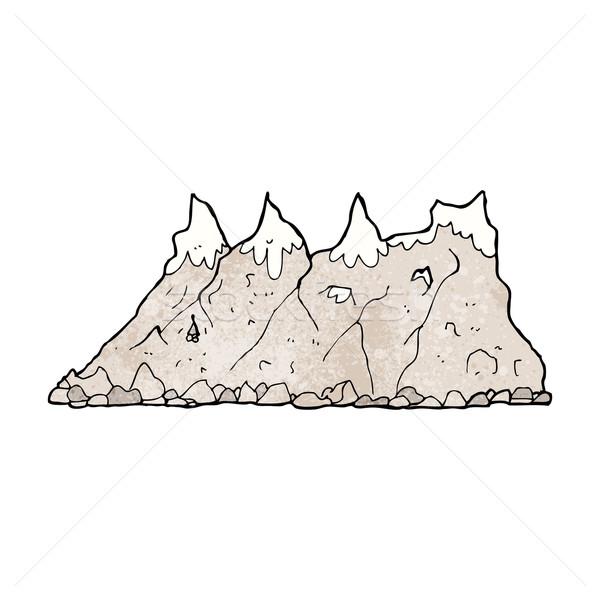 Rajz hegy terjedelem kéz terv művészet Stock fotó © lineartestpilot