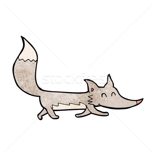 Karikatur wenig Wolf Hand Design crazy Stock foto © lineartestpilot