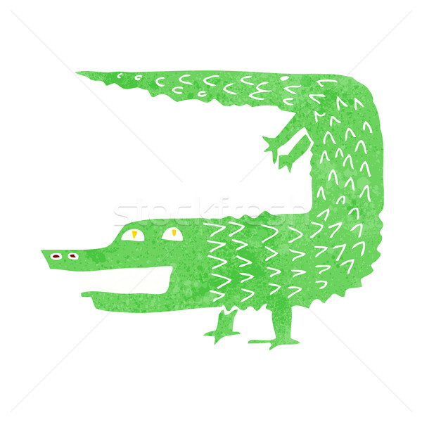 Desenho animado crocodilo projeto arte animais retro Foto stock © lineartestpilot