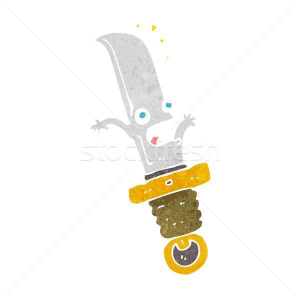 Cartoon bange mes hand ontwerp gek Stockfoto © lineartestpilot
