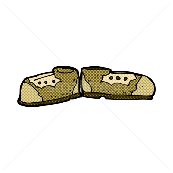 comic cartoon old shoes Stock photo © lineartestpilot