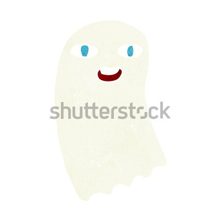 funny cartoon ghost with thought bubble Stock photo © lineartestpilot