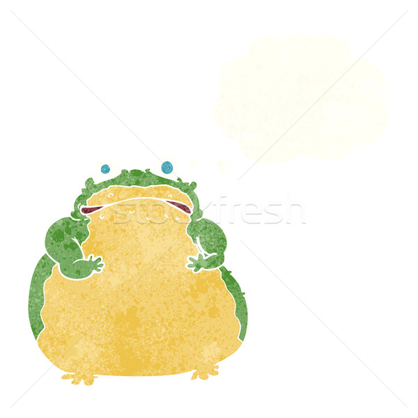 cartoon fat toad with thought bubble Stock photo © lineartestpilot