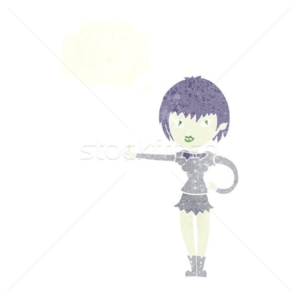漫画 吸血鬼 少女 にログイン 思考バブル ストックフォト © lineartestpilot