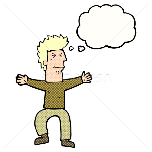 Cartoon из человека мысли пузырь стороны Сток-фото © lineartestpilot