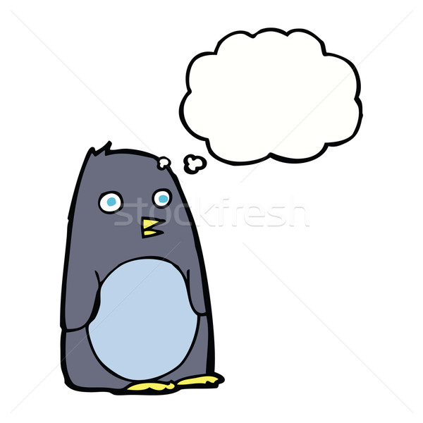 cartoon penguin with thought bubble Stock photo © lineartestpilot