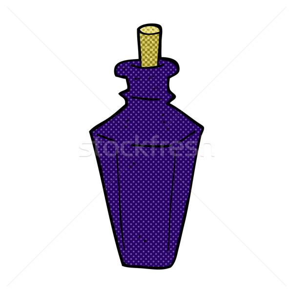 Cómico Cartoon perfume fragancia botella retro Foto stock © lineartestpilot