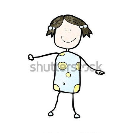 comic cartoon excited woman Stock photo © lineartestpilot