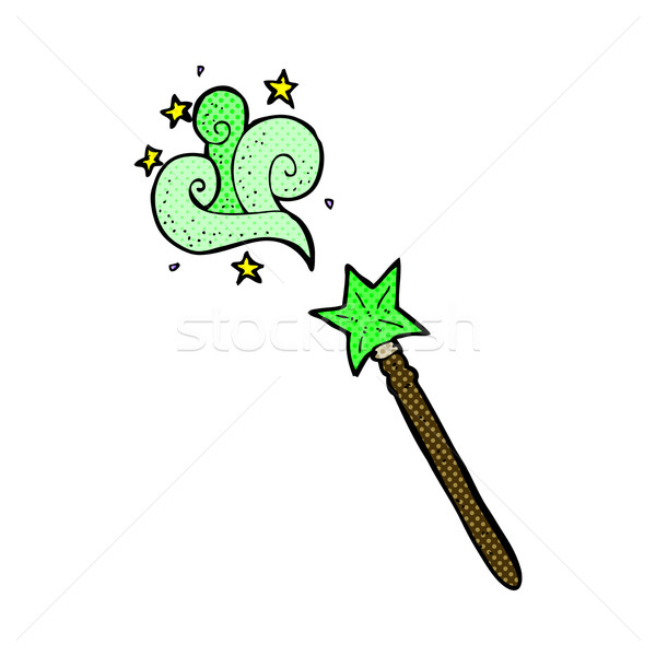 comic cartoon magic wand Stock photo © lineartestpilot