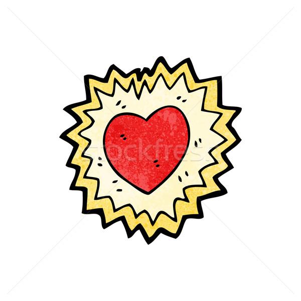 cartoon shining heart symbol Stock photo © lineartestpilot