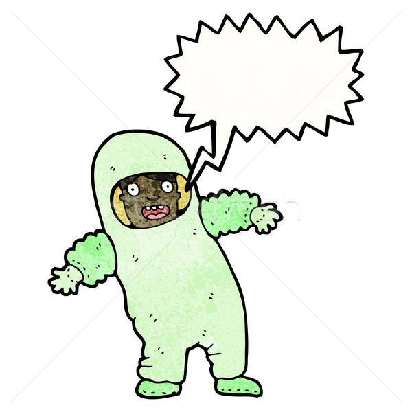 Cartoon człowiek promieniowanie garnitur retro rysunek Zdjęcia stock © lineartestpilot