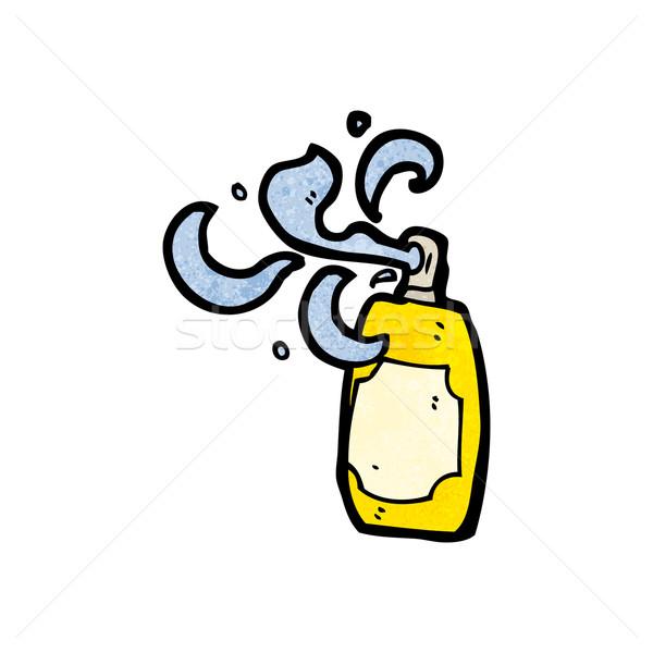 Karikatür aerosol can Retro çizim sprey Stok fotoğraf © lineartestpilot