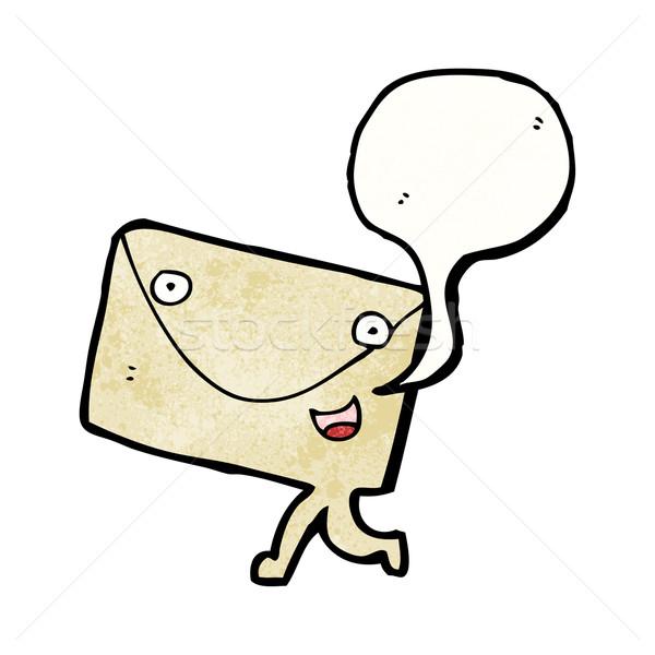 postal letter cartoon character Stock photo © lineartestpilot