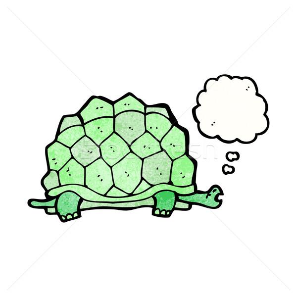 óriás teknősbéka rajz retro léggömb rajz Stock fotó © lineartestpilot