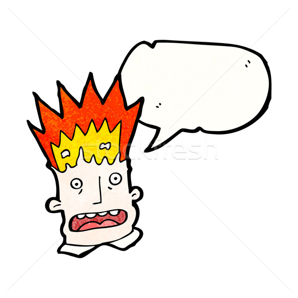 Stock photo: cartoon man with exploding head
