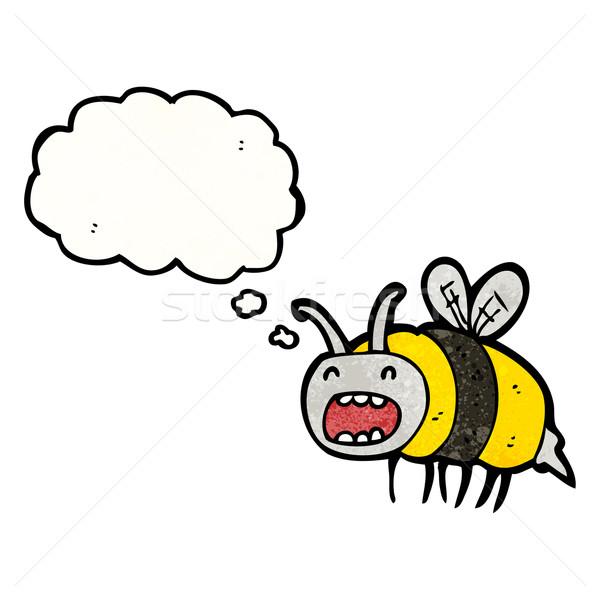 funny cartoon bee Stock photo © lineartestpilot